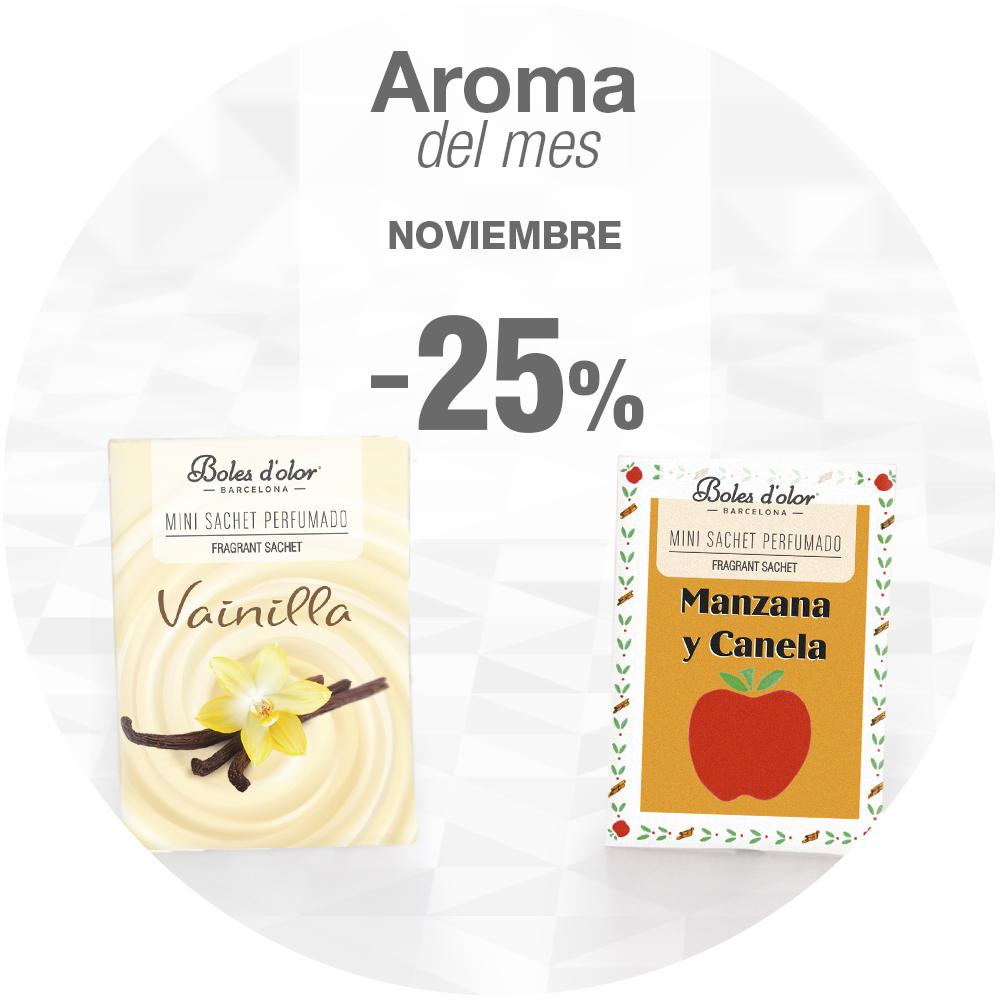 Aromas del mes de noviembre: Vainilla y Manzana y Canela